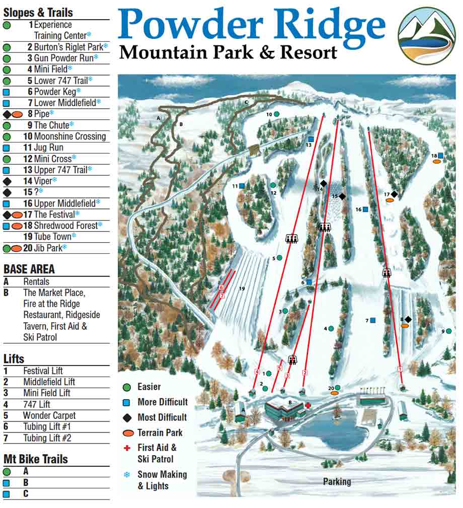 Powder Ridge Trail Map