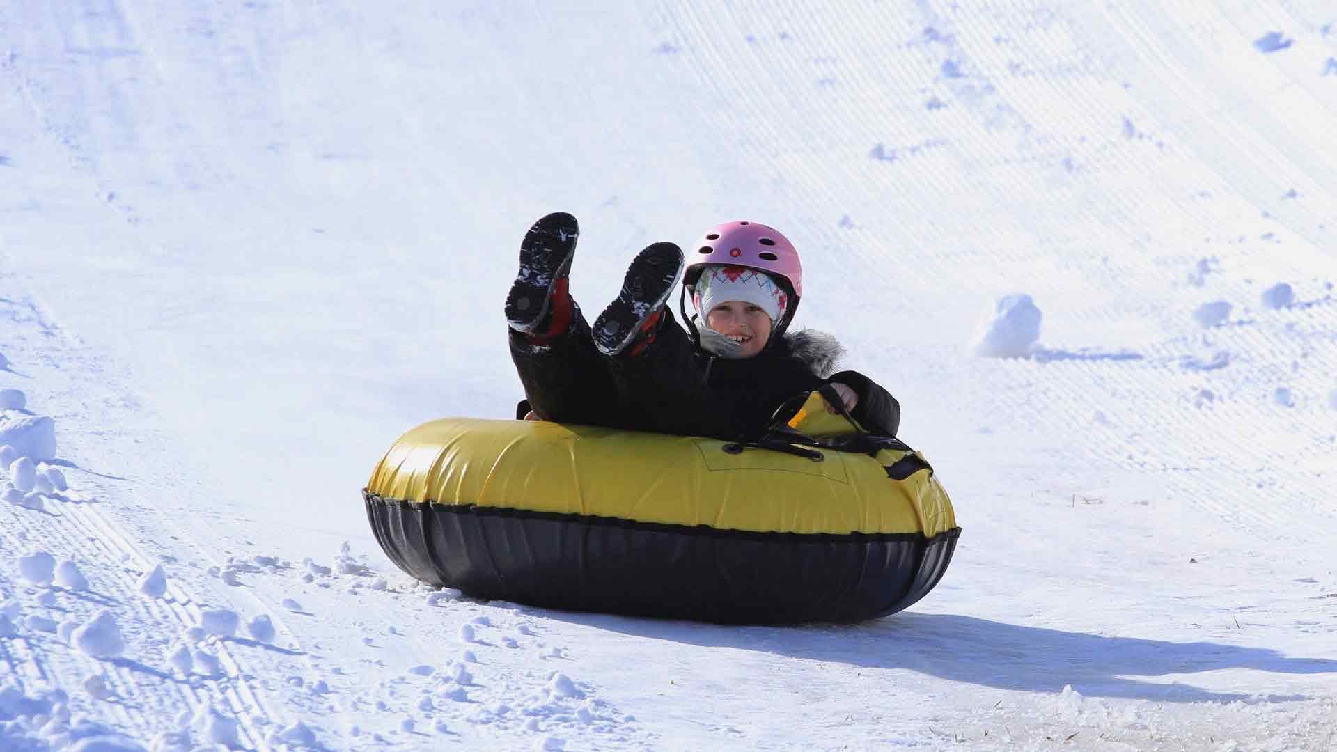 tubing at the ridge - powder ridge mountain park & resort