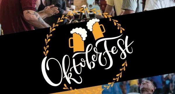 Oktoberfest people drinking beer