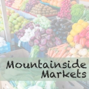 market logo and fresh vegetables