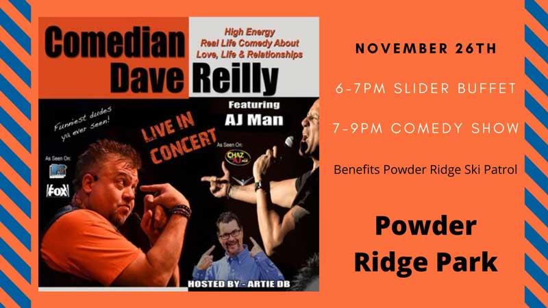 Dave Reilly comedy night Nov. 26, 2021